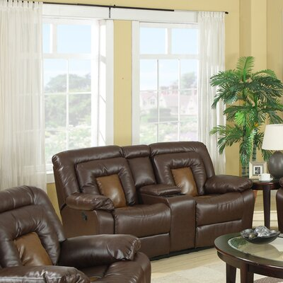 Kmax Leather Reclining Loveseat