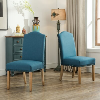Monotanian Solid Wood 7 Piece Dining Set Chair Finish: Blue