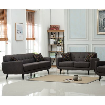 Modibella 2 Piece Living Room Set Upholstery: Taupe