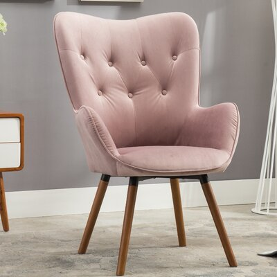 Bamard Tufted Button Back Armchair Upholstery: Mauve