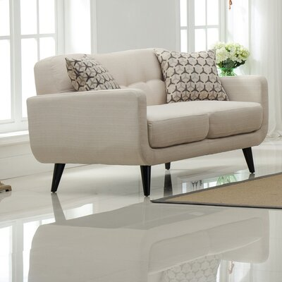 Modibella Loveseat Upholstery: Tan