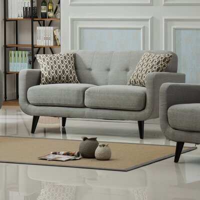 Modibella Loveseat Upholstery: Gray