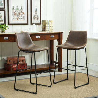 Bamey 7 Piece Pub Table Set Finish: Brown
