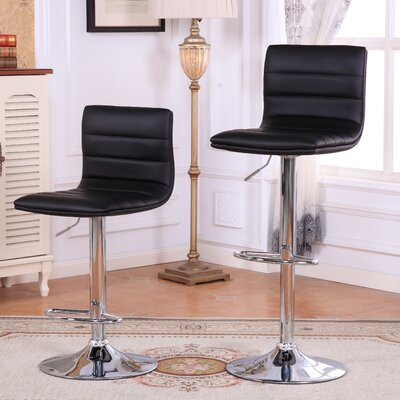 Adjustable Height Swivel Bar Stools with Cushion