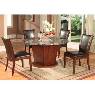 Artificial Marble 5 Piece Dining Set