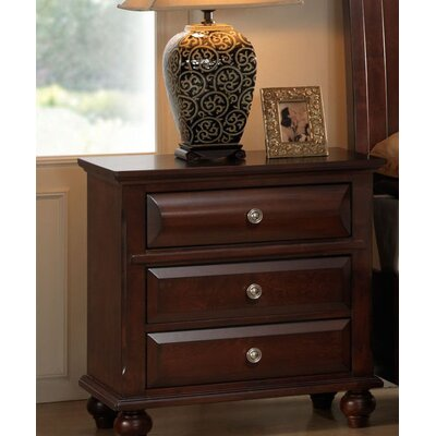 Concord 3 Drawer Nightstand