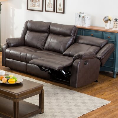 Novia Reclining Sofa Upholstery: Brown
