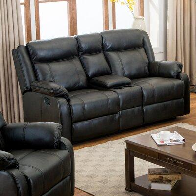 Novia Reclining Sofa Upholstery: Black