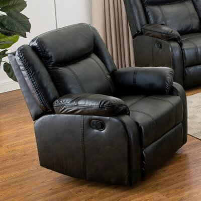 Novia Manual Recliner Upholstery: Black