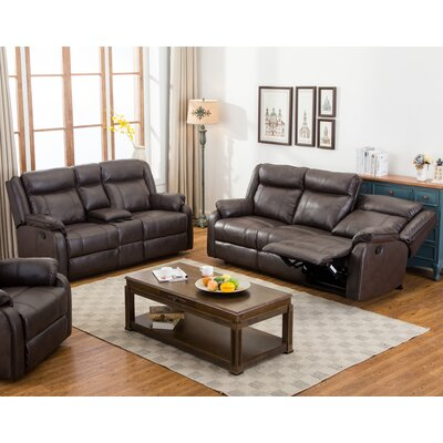 Novia 2 Piece Living Room Set Upholstery: Brown