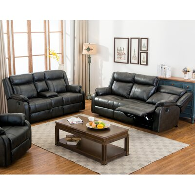 Novia 2 Piece Living Room Set Upholstery: Black