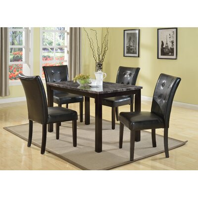 Horologium 5 Piece Dining Set