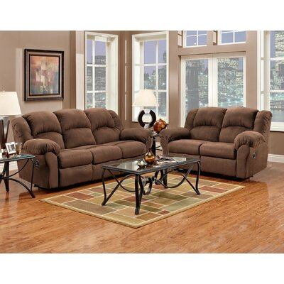 Aruba 2 Piece Living Room Set Upholstery : Chocolate