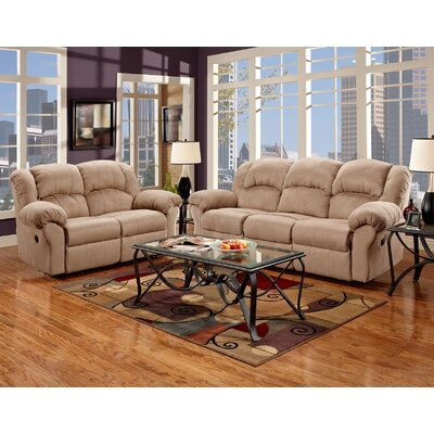 Aruba Dual Reclining Sofa and Loveseat Set Upholstery : Tan