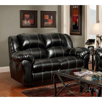 Aruba Dual Reclining Loveseat Upholstery : Black