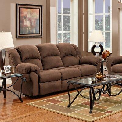 Aruba Dual Reclining Sofa Upholstery : Chocolate