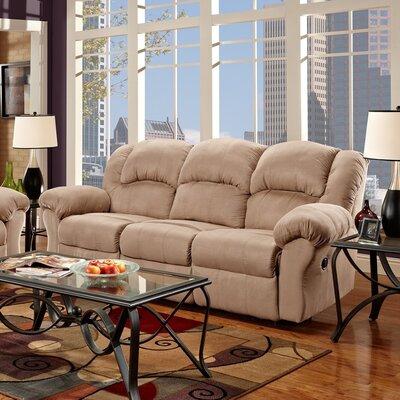 Aruba Dual Reclining Sofa Upholstery : Tan