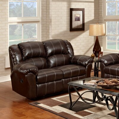 Aruba Dual Reclining Loveseat Upholstery : Brown