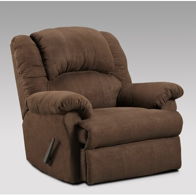 Aruba Rocker Recliner Upholstery : Chocolate