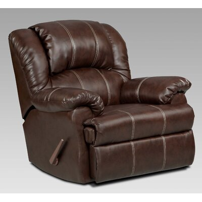 Aruba Manual Rocker Recliner Upholstery : Brown
