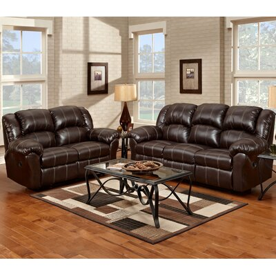 Aruba 2 Piece Living Room Set Upholstery : Brown