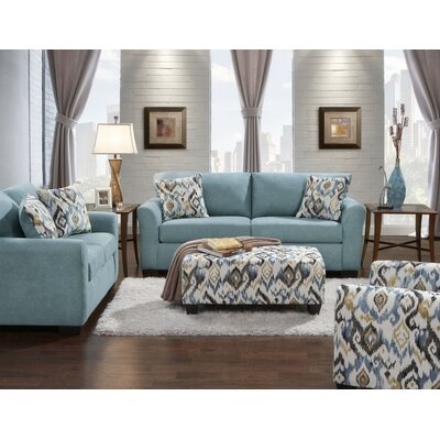 Mazemic Sofa and Loveseat Set Upholstery: Capri Blue