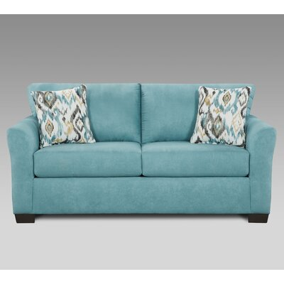 Mazemic Loveseat Upholstery: Capri Blue