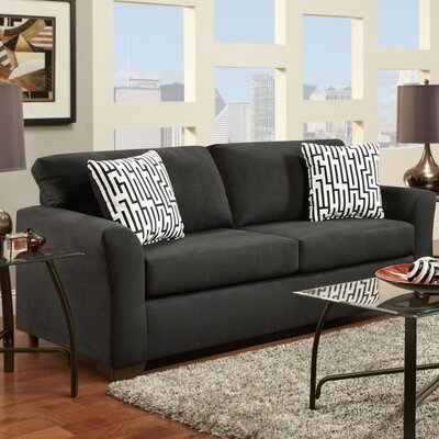 Norris Sofa Upholstery: Midnight Black