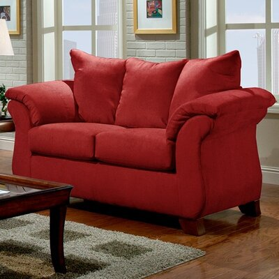 Norris Loveseat Upholstery: Red