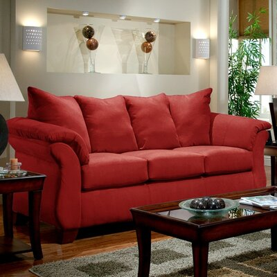 Norris Sofa Upholstery: Red