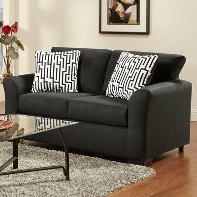 Mazemic Loveseat Upholstery: Midnight Black