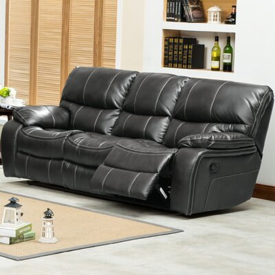 Ewa Double Reclining Sofa Upholstery: Gray
