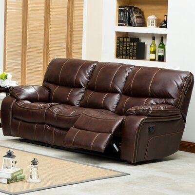 Ewa Double Reclining Sofa Upholstery: Brown