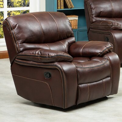Ewa Manual Recliner Upholstery: Brown