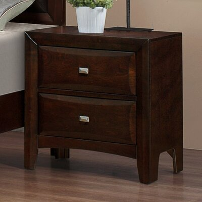 Mateo 2 Drawers Nightstand