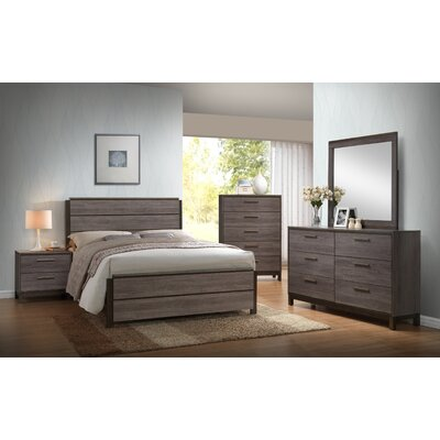 Mandy Wood Panel 5 Piece Bedroom Set Size: Queen
