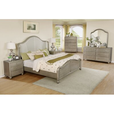 Aiden Panel 6 Piece Bedroom Set Size: King