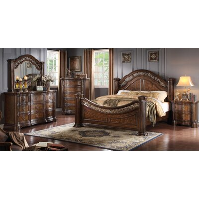 Boulogne Wood Panel Customizable Bedroom Set Size: King