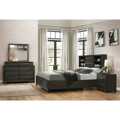 Loiret Wood 4 Piece Bedroom Set Size: King