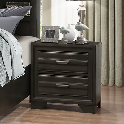 Loiret Wood 2 Drawer Nightstand
