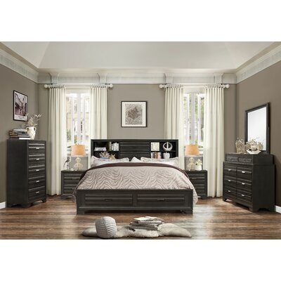 Loiret Wood 6 Piece Bedroom Set Size: King