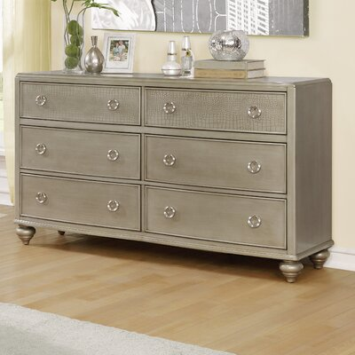 Aiden 6 Drawer Standard Dresser