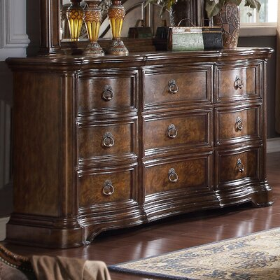 Boulogne Wood 9 Drawer Dresser