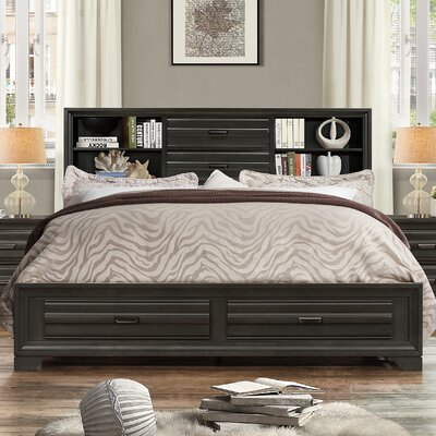 Loiret Wood Storage Platform Bed Size: King