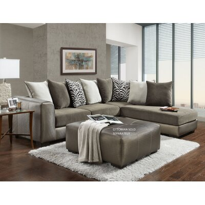 Shimmer Sectional Upholstery: Champagne