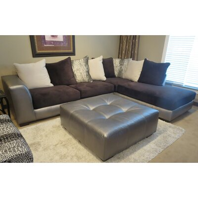 Shimmer Sectional Upholstery: Silver Microfiber