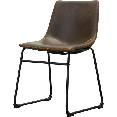 Bamey Vintage Side Chairs Upholstery Color: Brown