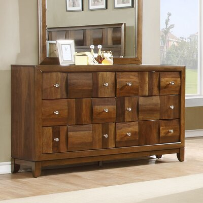 Calais Solid Wood 6 Drawer Dresser