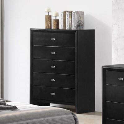 Gloria Wood 5 Drawer Chest