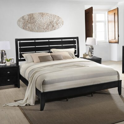 Gloria Wood Panel Bed Size: King